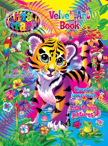 lisa frank velvet art book with markers modern publishing lisa frank 9781559934381 amazoncom books