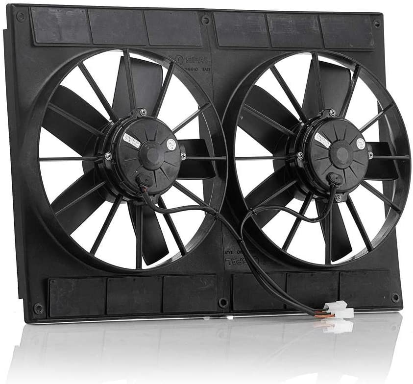Be Cool 75001 Euro-Black 16 High-Torque Electric Puller Fan