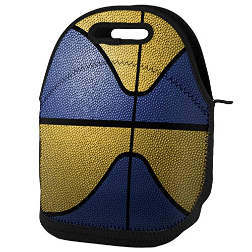 - Old Glory Championship Basketball Royal Blue and Yellow Lunch Tote Bag Multi Standard One Size