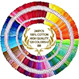 Embroidery Floss 240 skeins 1920M 100% Egyptian long-staple cotton pull strong bright light the only one DMC...
