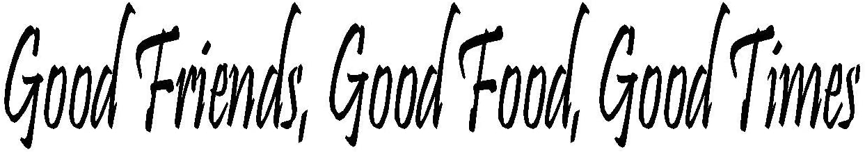 byyoursidedecal Good Friends,Good Food,Good Times Vinyl Wall Decal,Art Quotes Inspirational Sayings 4