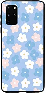 Okteq Clear TPU Protection and Hybrid Rigid Clear Back Cover Compatible with Samsung Galaxy S20 Plus - blue pink white By Okteq