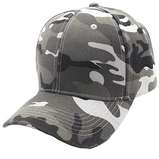 Unisex Camouflage Baseball Cap Snapback Hat Hip-Hop Adjustable  Laimeng World (Gray) c1841a99c87c