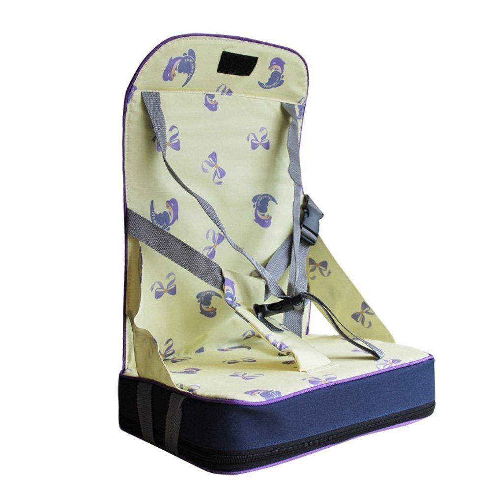Portable Foldable Harness Baby Toddler Infant Dining Chair Booster Seat Bag Travel Storage Highchair YELLOW
