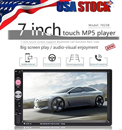 Scelet 7 Zoll Doppel 2 DIN Auto MP5 Player Bluetooth Touchscreen Stereo Radio Kamera