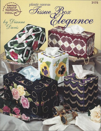 Needlework Booklets - Plastic Canvas Tissue Box Elegance - American School of Needlework Booklet #3175