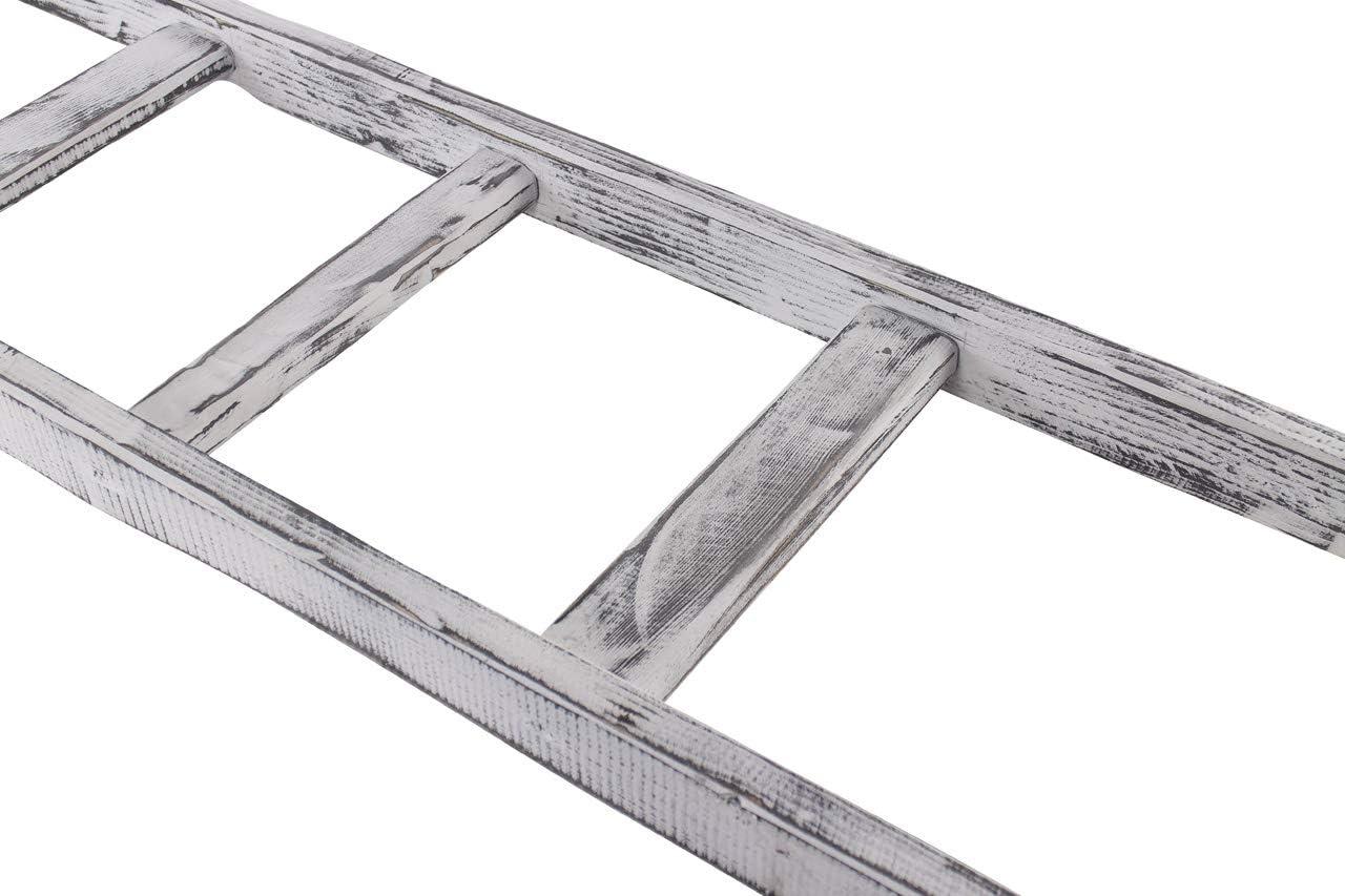 Vintage Möbel 24 GmbH - Escalera de Madera rústica, con 6 peldaños, Ideal para Decorar o Plantar o como Vestuario, 165 cm: Amazon.es: Hogar