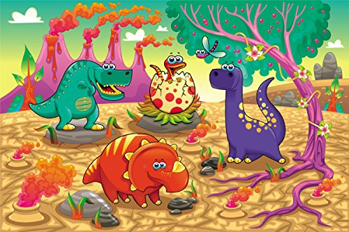 Fun and Cute Dinosaur and Volcano Magical Planet Jigsaw Floor Puzzle 48 Pieces Magic Human Collection