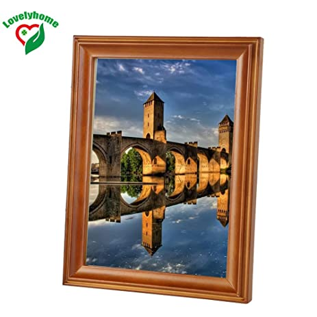 Amazon Popular Wall Or Tabletop Wooden Picture Frame 35x5