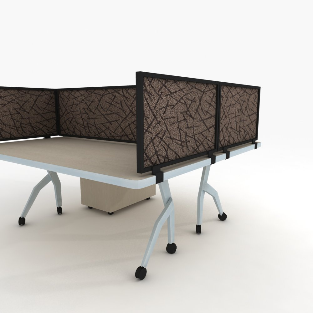 24'' Acoustical Desk Mounted Privacy Panel