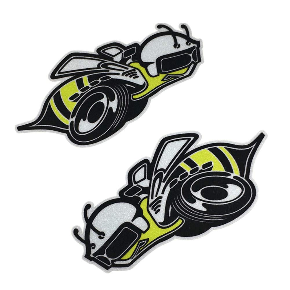 1pair Car Styling Decals Motorcycle Oil Tank Truck Stickers for Vespa Honey Bee 12x6cm 3M
