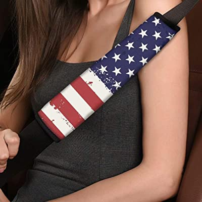 American Flag Universe Print Seat Belt Shoulder Pads Car Accessories for Women Girl, Car Accessories, Protect Adult Kids: Automotive [5Bkhe1507266]