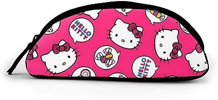 Hello Kitty - Estuche de tela con cremallera (tamaño grande), diseño de Hello Kitty: Amazon.es: Oficina y papelería