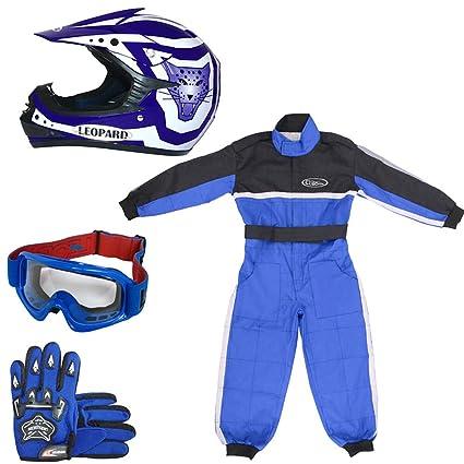 Amazon.es: Leopard LEO-X17 - Casco de Motocross para niños y ...