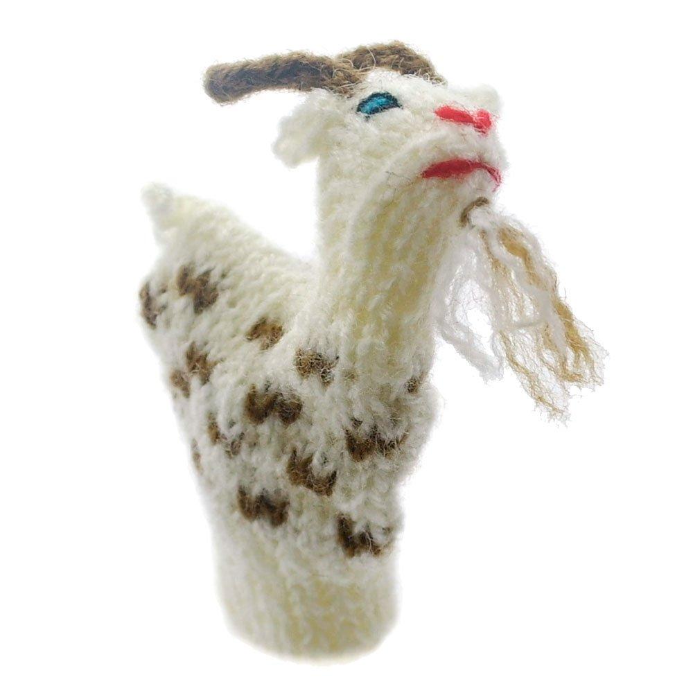 Fingerpuppe Zicklein Kasperltheater Spielzeug zum Spielen und Lernen handgestrickt aus weicher Wolle fü r Baby und Kinder Willy' s Manufaktur FP 8781