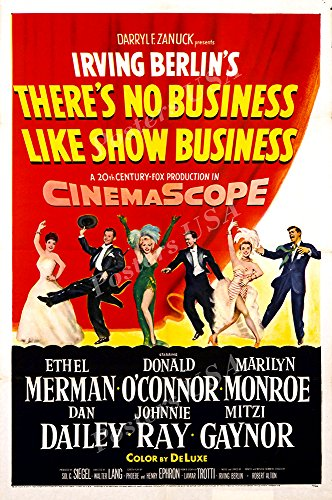 "Posters USA - Marilyn Monroe There's No Business Like Show Business GLOSSY FINISH Movie Poster - FIL470 (24"" x 36"" (61cm x 91.5cm))"