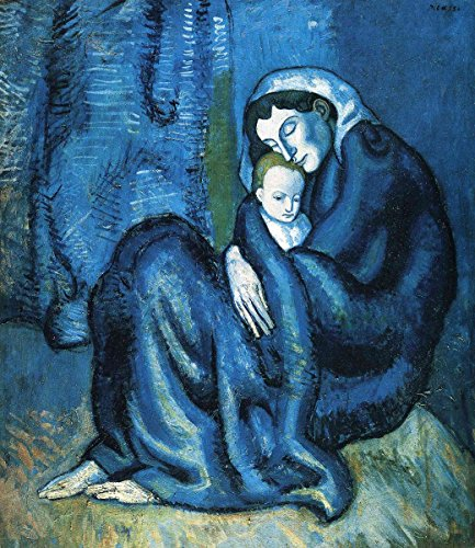 Pablo Picasso - Mother and Child, Canvas Art Print, Size 20x24, Canvas Print Rolled in a Tube ()