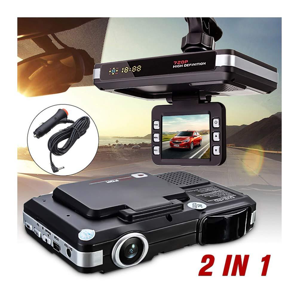 2 in 1 720P HD Recorders Radar Laser Speed Detector DVR Camera for 5MP Car DVR Recorder+Radar Speed Detector Traffic Alert HD Car DVR Camera