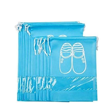 df08792f8 zoomlie 10Pcs Shoe Bag Drawstring Non-woven Shoe Bag Travel Shoe Storage  Organizer with Draw