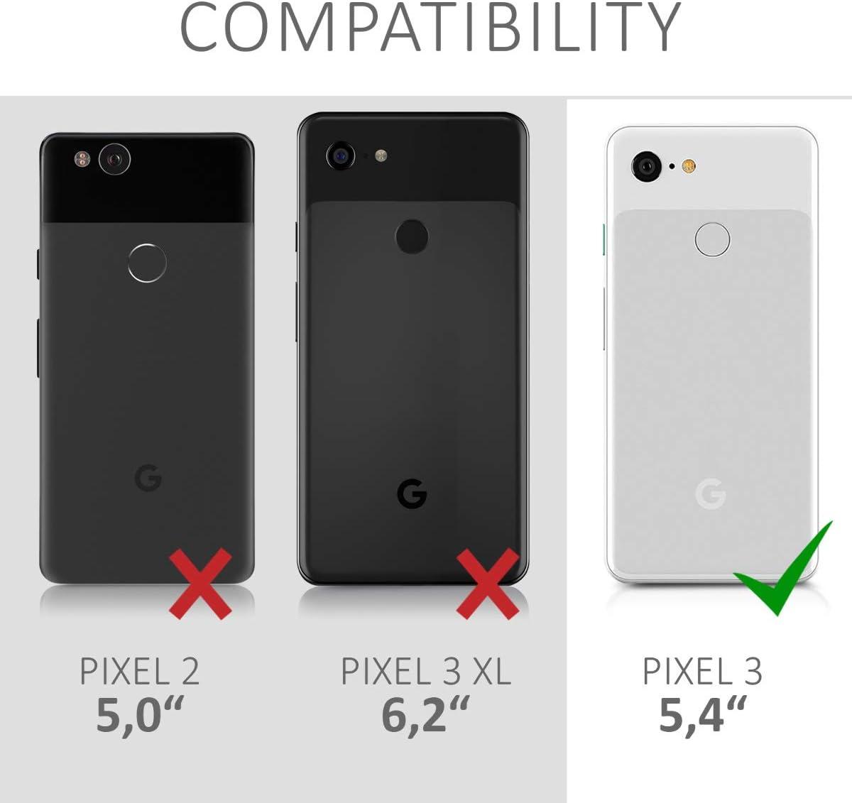kwmobile Funda Compatible con Google Pixel 3 Carcasa m/óvil de Silicona Protector Trasero en Azul Metalizado