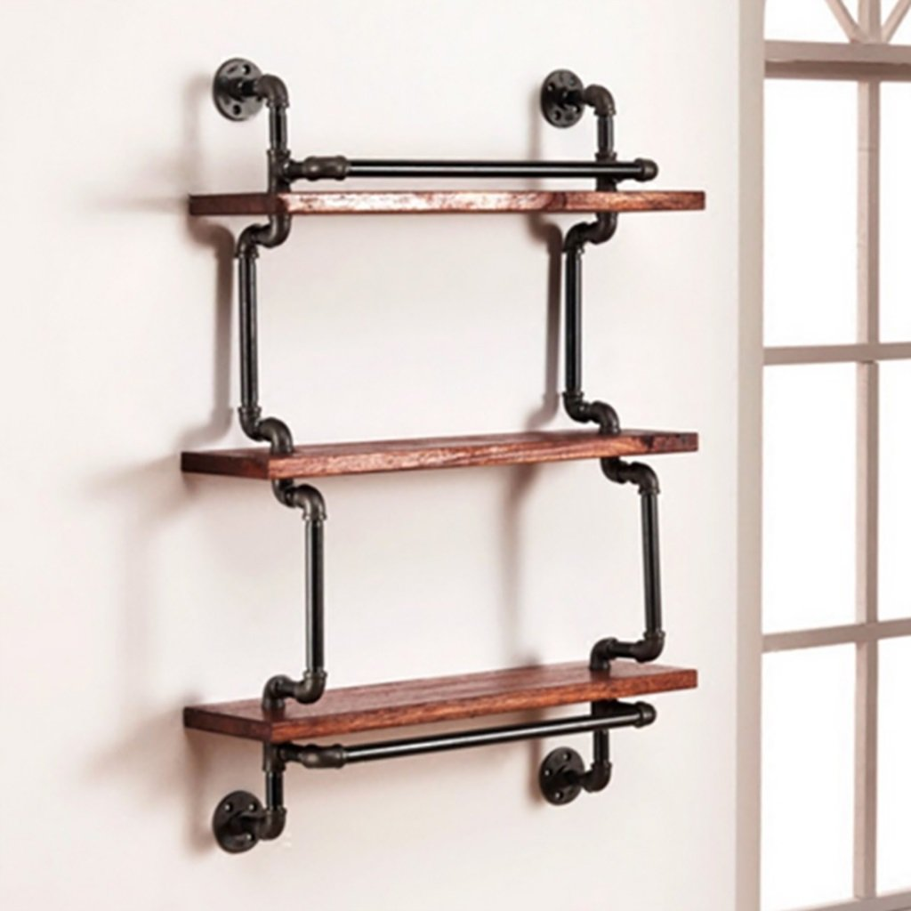 Amazoncom Bookshelf Loft Vintage Pipe Wrought Iron Clapboard