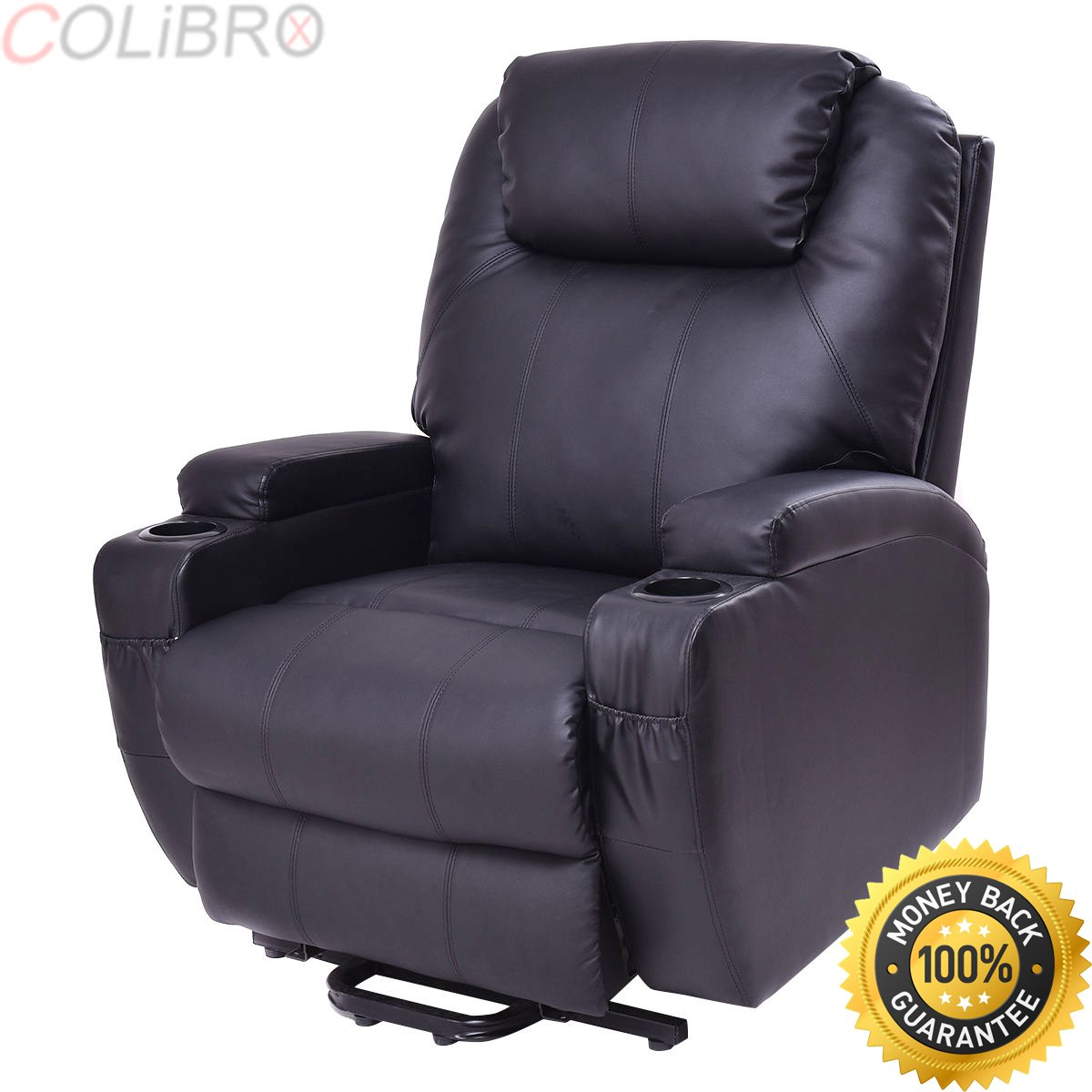 COLIBROX--Lift Chair Electric Power Recliner w/Remote and Cup Holder Living Room Furniture.