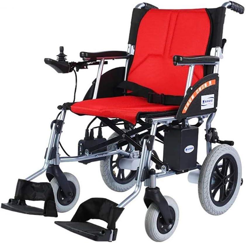 DEAN Caminante eléctrica, Plegable, Ligera, de 16 kg, Silla móvil con batería de Litio extraíble, accesible para sillas de Ruedas en Todo Tipo de Carreteras.