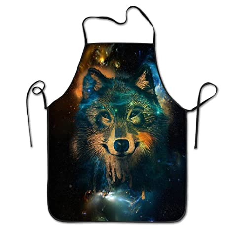 Night Wolf Personalized Apron For Kitchen Baker Baking ...