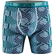 JINSHI Men's Underwear Bamboo Performance Long Boxer Briefs