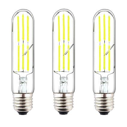 Klarlight Tubular Led Light Bulb 60 Watt E26 Incandescent Bulb Equivalent 6 Watt T10 Dimmable Led Bulb Daylight Tubular Edison Bulb Retro E26