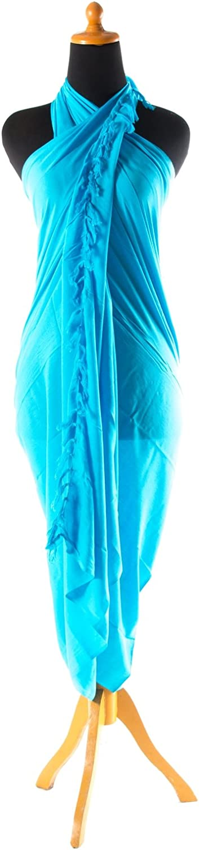 Viele Gr/ö/ßen und exotische Farben und Muster zur Auswahl Sarongschnalle im Herz Design Pareo Dhoti Lunghi Sarong Handbestickt inkl