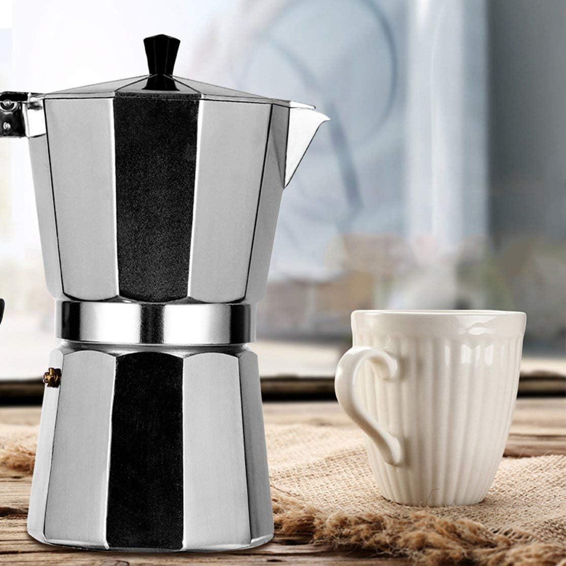 LouiseEvel215 Cafetera Aluminio Mocha Espresso Percolator