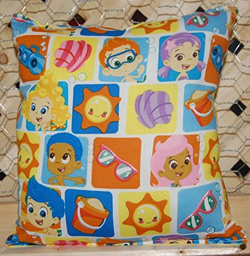 "Bubble Cotton Bed (Bubble Guppies Pillow Guppy Pillow Tic Tac Toe Style Pillow HANDMADE in USA NEW Pillow is approximately 10"" X 11"
