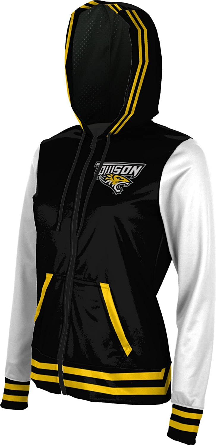 School Spirit Sweatshirt Letterman ProSphere Towson University Girls Zipper Hoodie