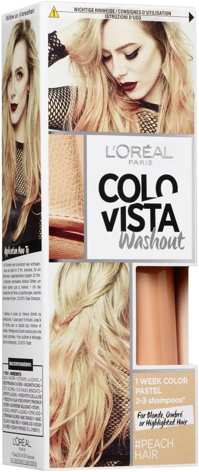 Loréal Colovista 2-Week-Wash-Out - Tinte de color melocotón (peachhair) número 1