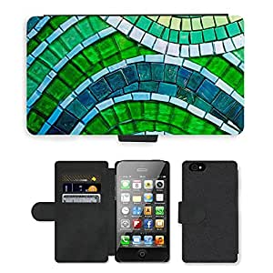PU Cuir Flip Etui Portefeuille Coque Case Cover véritable Leather Housse Couvrir Couverture Fermeture Magnetique Silicone Support Carte Slots Protection Shell // M00155728 Fondo verde del papel pintado Macro // Apple iPhone 4 4S 4G