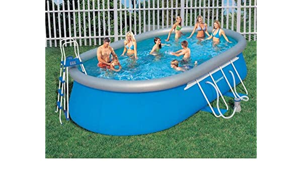 Bestway BW 56121 - Kit de piscina ovalada (610 x 366 x 122 cm): Amazon.es: Jardín