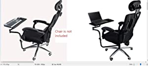 Magichold Ergonomic Keyboard/Laptop/Tablet/Mouse Stand Holder Mount for Workstation/Video Gaming/etc (can be Installed to Your Chair Column or Any Round bar with max 1.96 inch Diagonal Thickness,