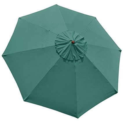 New Replacement Umbrella Canopy for 10FT 8 Ribs, Color: Green (Canopy ONLY)