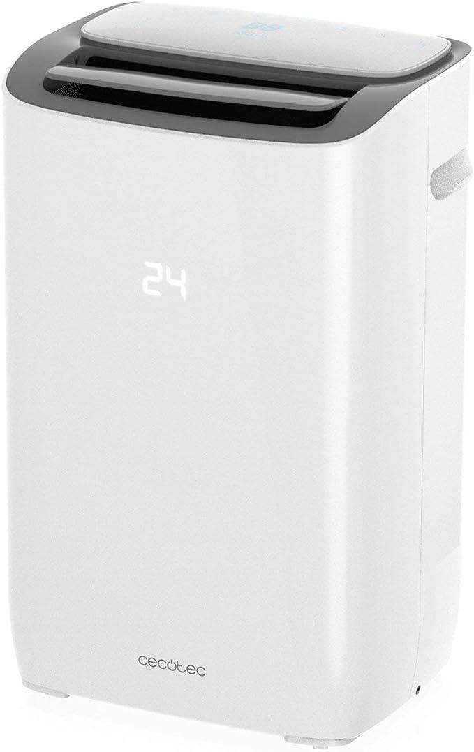 ClimaCare 3 en 1 Programable 24h Eficiencia Energ/ética de Clase A Color Blanco Gran Caudal de Aire de hasta 300 m/³//h Cecotec ForceSilence Clima 7050 Acondicionado Port/átil 1800 Frigor/ías