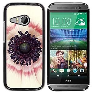 For HTC ONE MINI 2 / M8 MINI Case , Inside White Red Pink Flower - Diseño Patrón Teléfono Caso Cubierta Case Bumper Duro Protección Case Cover Funda