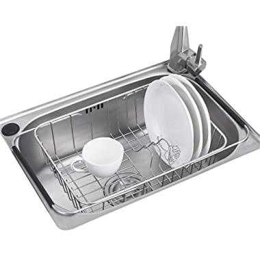 Sink Dish Drying Rack Stainless Steel Dish Drainer Organizer Over Sink or On Counter for Drying Glasses Bowls Plates …
