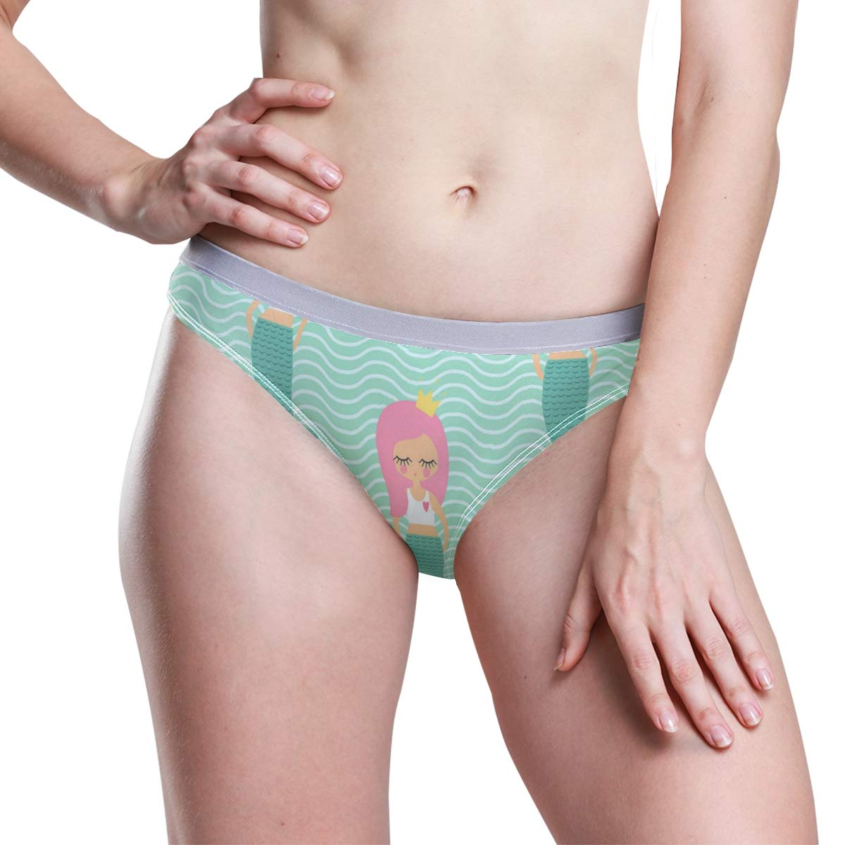 hot-selling genuine luxuriant in design top quality Low-Rise Panties for Women, Shy Cute Mermail Girl Hipster ...