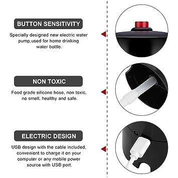 Dispensador de la bomba de agua Handy recargable dispensador eléctrico USB succión Dispositivo universal de suministro de agua para la botella de la Oficina ...