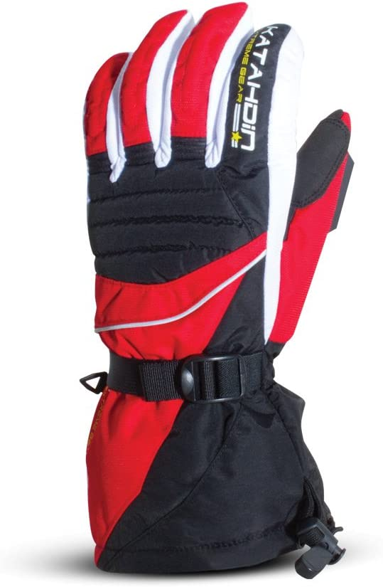 Katahdin Frostfire Snowmobile Gloves Red