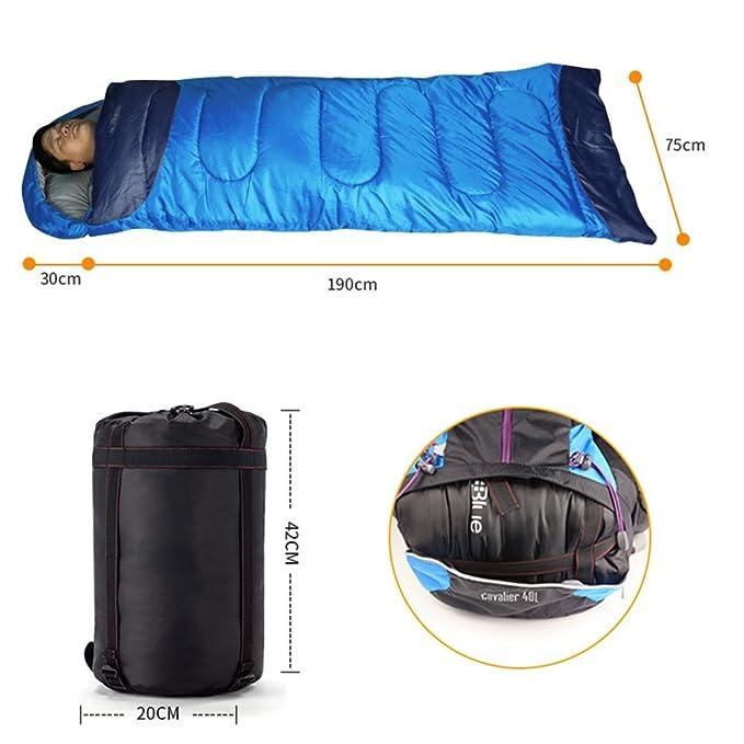 HM&DX Saco de Dormir Rectangular Adultos Tiempo Frío de Invierno Ultraligero Saco de Dormir Camping con Saco de Compresión Hiker mochilero Viajar ...