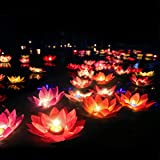 LEDMOMO Floating Lotus Lights Wishing Water Lily Candles Light Decorative Floating Candles Lantern for Pool Festival…