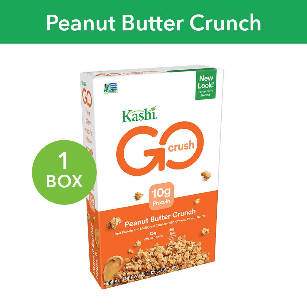 Kashi GO Peanut Butter Crunch Cereal - Vegan | Non-GMO | 13 2 Oz Box