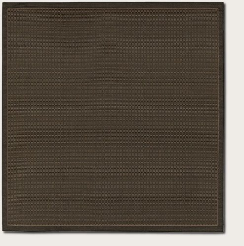 Couristan 1001/2000 Recife Saddle Stitch Black/Cocoa Rug, 7-Feet 6-Inch Square (Cocoa Collection Black Recife)