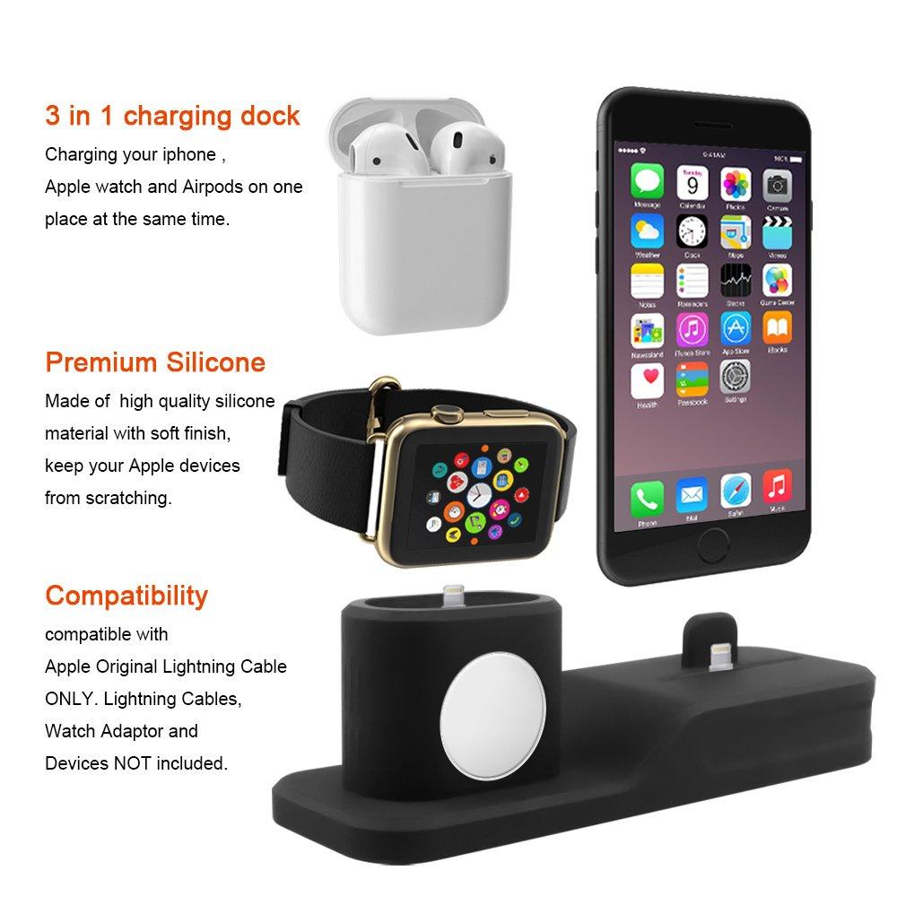 Amazon.com: Soporte de carga compatible con Apple Watch ...